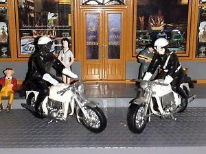 NOREV ANCIEN LOT MOTO BMW MOTARD GENDARMERIE PLASTIQUE 1/43