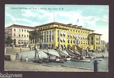 ANTIQUE POSTCARD / FEDERAL BUILDING & BOAT LANDING / 1900's SAN JUAN PUERTO RICO