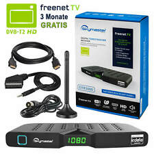 Freenet Skymaster DTR5000 DVB-T2 FULL HD TV Terrestrisch Receiver + Antenne 3dB
