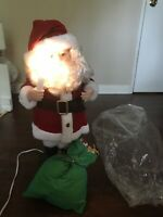 """Vintage TELCO Motion-ettes of Christmas 24"""" Santa Claus Animated w/Lights"""