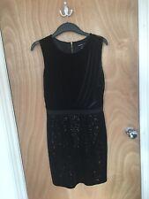 f9871ba399261 Black Mango sequin velvet party dress, size M 10 12 - perfect for Xmas