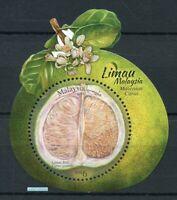 Malaysia 2018 Citrus fruit Cuisine odd round shape die-cut  Miniature sheet MNH
