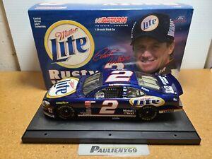 2001 Rusty Wallace #2 Miller Lite Penske Racing South 1:24 NASCAR Action MIB