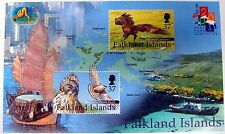2001 FALKLAND ISLANDS BIRD STAMPS MINIATURE SHEET YEAR OF THE SNAKE EAGLE