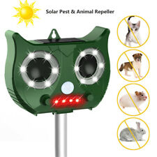 Solar Charging Pest Animal Repeller PIR Motion Sensor Bird Cat Rat Dog Repellent