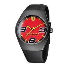 Orologio Uomo Scuderia Ferrari Pit Stop 12728 Rosso acciaio gomma Watch Red