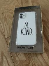"New Rae Dunn Iphone 11/XR Phone Case ""BE KIND"" Hard Shell Case - Clear"
