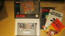 Sim City for SNES Super Nintendo. Boxed with Manual. Pal