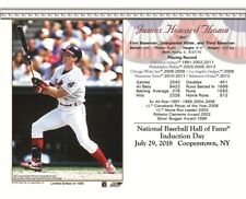 JIM THOME CLEVELAND INDIANS 8X10 2018 HALL OF FAME INDUCTION DAY CARD
