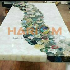 5'x3' Pink Rose Quartz & Mix Agate Dining Table Top Restaurant Decorative A104A