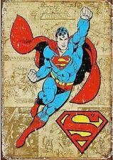 Fridge Magnet 2x3 Superman Weathered Panels Distressed Retro Vintage Tin Sign