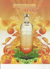 ABSOLUT APEACH. - 2005 Absolut Vodka print ad