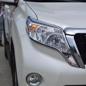For Toyota Land Cruiser Prado J150 2014-2018 Front head light Lamp Cover Trim