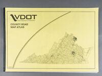"Vintage 2004 Large VDOT Virginia County Road Map Atlas 29"" x 19"" - Bound"