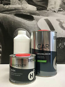 Peinture carrosserie: 0,87 L Vernis Auto BesaGlass Antirayures High Solid