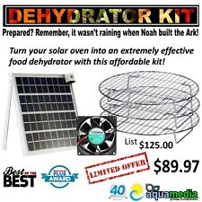 Professional Solar Oven Dehydrator Kit-Fits All Solar Box-type Sun Ovens 20%off