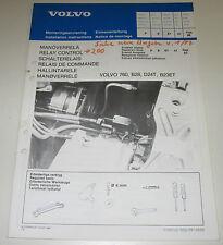 Einbauanleitung Volvo 760 Einbau Schaltrelais Motor B28 / D24T / B23ET 02/1986!