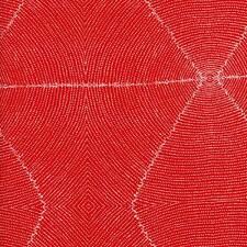 Plum Seeds Red Aboriginal Australian Quilt Sew Fabric M & S TEXTILES