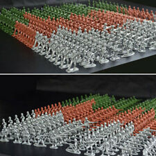 100 Pcs Military Plastic Soldiers Army Men Tan Figures 6 Poses Children Toy