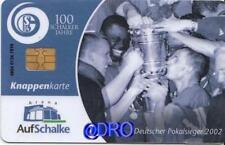 Knappenkarte FC Schalke 04 + Deutscher Pokalsieger 2002 + 5.- € Guthaben + Hülle