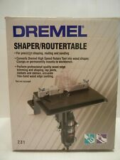DREMEL SHAPER / ROUTER TABLE #231 HIGH SPEED ROTARY W BOOK & SCREWS
