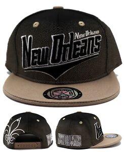 New Orleans New Leader Youth Fleur de Lis Saints Black Gold Era Snapback Hat Cap