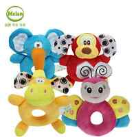 Unisex Toddler Cute Plush Toy Kids Soft Handbell Brains toys Baby Child Girl Boy