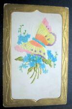 Butterfly Flower Embossed 1909