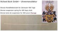 Bronze Drehpendelfeder | 400 Tage  | Suspension Spring 400 days