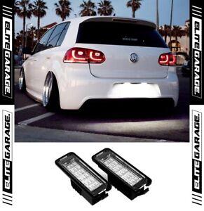 Fits Volkswagen Golf MK6 GTI R BRIGHT Rear License LEDs Light CANBUS Error Free