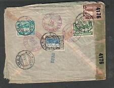 Peru Wwii registered censor cover Lima to Libbey Owens Ford Toledo Oh via Miami