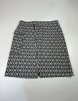BNWT WOMENS NEXT SIZE UK 10 WHITE&BLACK SMART/CASUAL STRETCH KNIT A LINE SKIRT