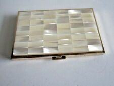 New In Box! Colibri Cigarette Case-Gold & Mother Of Pearl Look-Japan