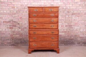 Henkel Harris American Colonial Solid Cherry Highboy Dresser