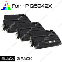 3 PK High Yield Black Q5942X Toner Cartridge For HP 42X Laserjet 4250 4350 n dtn
