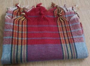"""Turkish Peshtemal 100% Cotton 30"""" x 60"""" Beach Towel Made in Turkey - Dark Red"""