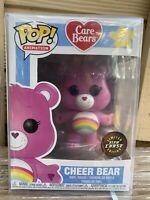 FUNKO POP! Cheer Bear CHASE GLOW IN THE DARK GITD Care Rainbow NEW PROTECTOR