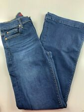 7 for all mankind Ginger Dark Wash High Rise Bootcut Jeans 26. 26x31x10x20""