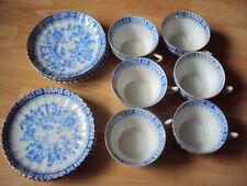 Altes Porzellan - China Blau - versch.  Markenzeichen - 6 Tassen, 6 Untertassen