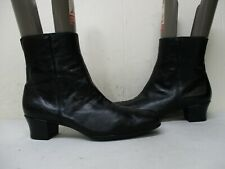 Munro American Black Leather Zip Ankle Boots Womens Size 7.5 N