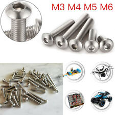 100PCS M3~M6 Metric Button Head Screw Hex Socket Alloy / Stainless Steel Bolts