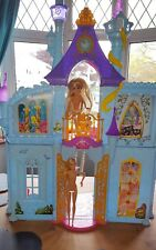 Barbie dolls house castle with furniture, car and dolls