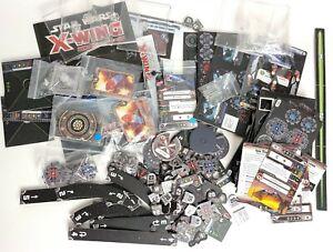 Star Wars X-Wing Miniatures Lot Random Parts, Pieces, Cards, Figures