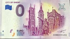 BILLET 0 ZERO EURO  CITY OF GENT BELGIQUE 2019-1 NUMERO 400
