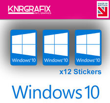 KNR7730 12x Windows 10 Sticker Decal Badge PC Repair