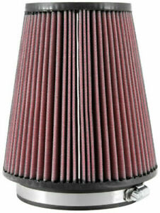 """K&N RU-2800 Universal Air Filter Cone 5"""" Inlet 127mm Red Conical Cotton Gauze"""