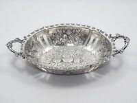 ANTIQUE c 1900 PORTUGUESE STERLING 916/1000 REPOUSSE RETICULATED BOWL