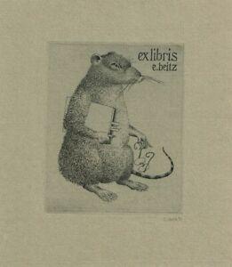 ERHARD BEITZ: Eigen-Exlibris