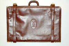 """Valigia porta-abiti vintage Cartier coll.""""Les Must de Cartier"""" in pelle bordeaux"""