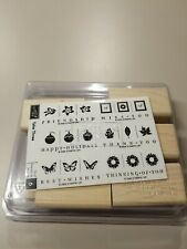 2006 Stampin' Up - Take Three - 6 Pc Wood Un Mounted Rubber Ink Stamp Set - New